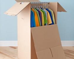 Wardrobe Box packed by Irish Moving NYC Movers